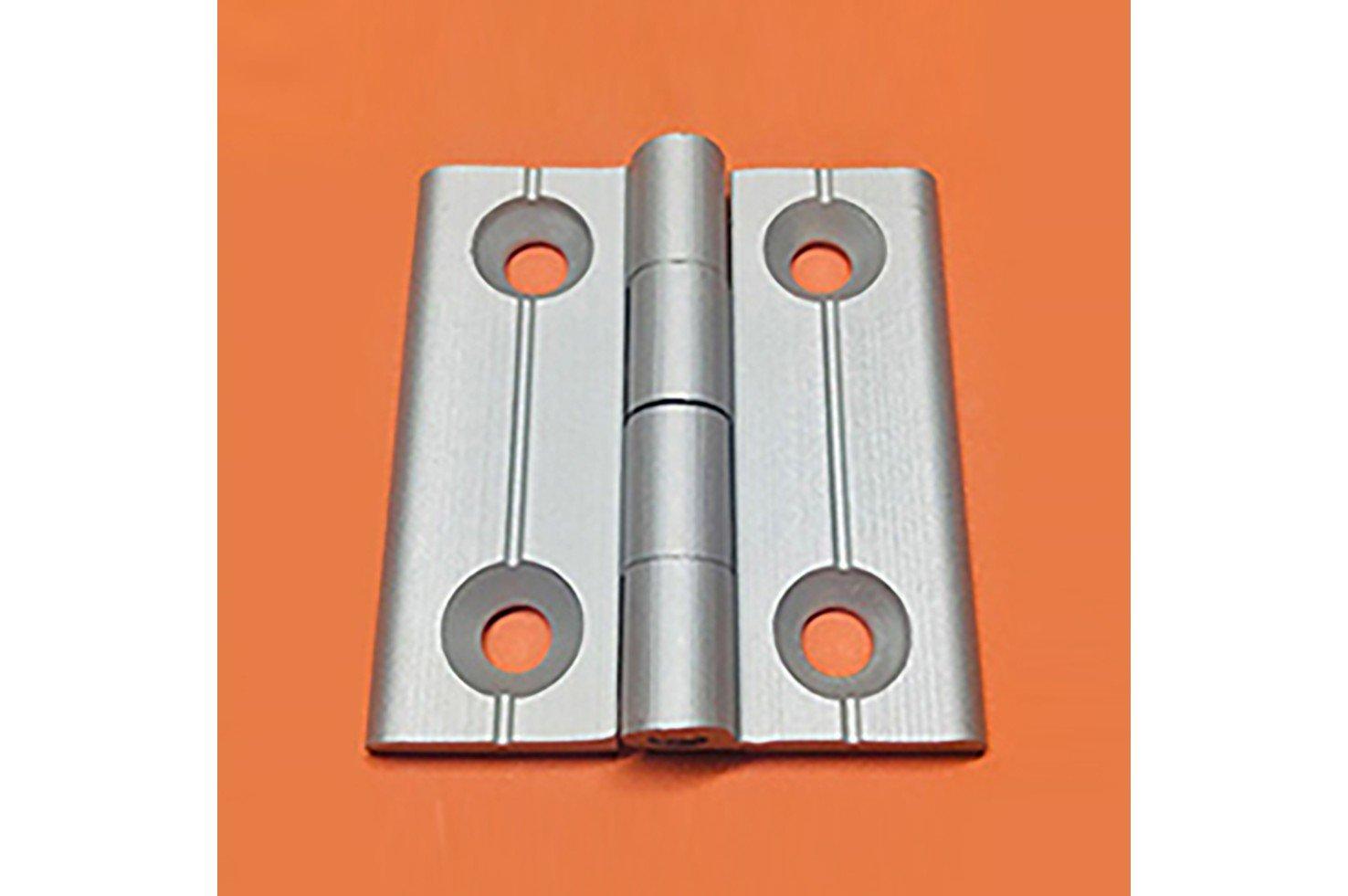 Dobradiças em Perfil de Alumínio – Fixas