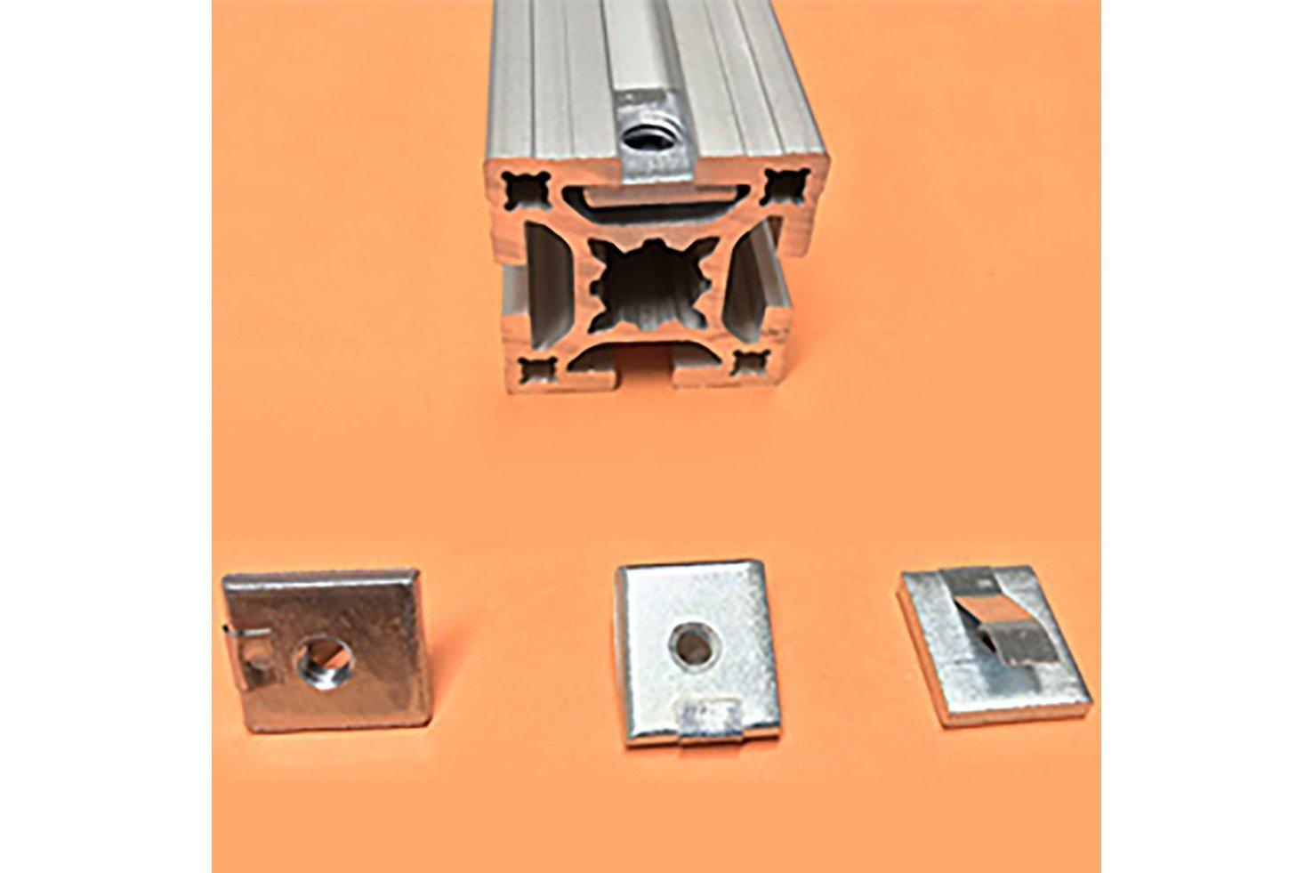 Porcas Retangulares para Canais 8 e 11 mm